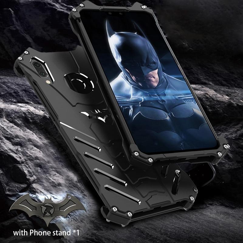 For HUAWEI Y9 2019 Case Original R-JUST Batman Armor Aluminum Metal For Huawei Y9 2019 Enjoy 9 Plus Case Shockproof Coque