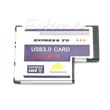 54mm Express Card 3 Port USB 3.0 Adapter Expresscard für Laptop FL1100 Chip Usb Hub C26