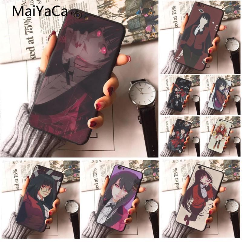 MaiYaCa, funda de teléfono de silicona de lujo única Kakegurui para iphone 8 8plus 7 7plus 6 6plus 5 5s XR XSMax SE, funda móvil
