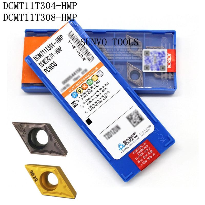 50 Uds DCMT11T304 DCMT11T308-HMP PC9030 NC3030 KORLOY CNC carburo insertos de fresado para fresado indexable de SDJCR1616H11