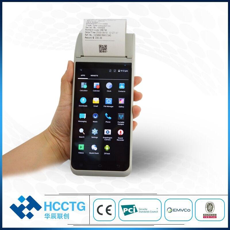 Móvil inteligente 4G WiFi inalámbrico de mano NFC Android POS Terminal HCC-Z91