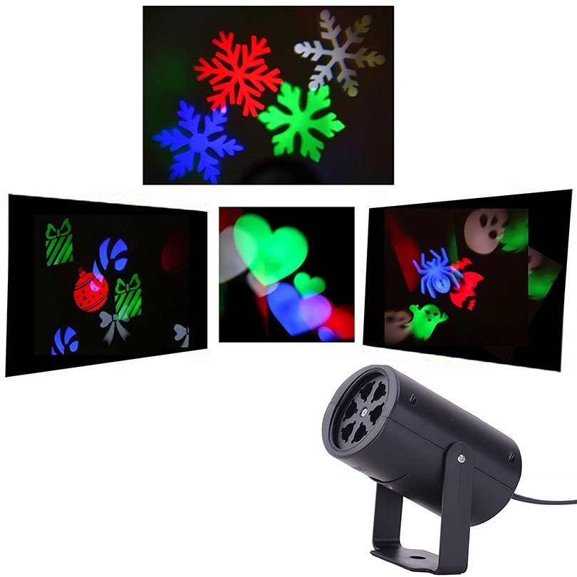 Projector Lamp LED Stage Light 4 Types Colorful Rotating Christmas Holiday Party Landscape Light Garden Lamp Outdoor Lighting kmashi snowflake lamp sparkling landscape projector waterproof decor spotlights garden tree wall christmas holiday lighting eu