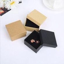NUOVO ARRIVO 10 pcs un sacco di vendita Dei Monili del pacchetto, 5x5 cm di modo di colore nero Per orecchino/anello/monili del braccialetto buona scatola A90