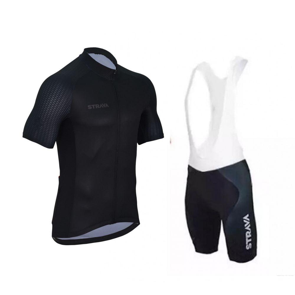 Strava pro fit ciclismo jersey conjunto verano manga corta bicicleta maillot transpirable secado rápido bicicleta Ropa ciclismo gel pad