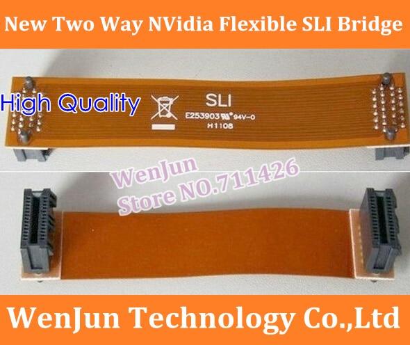 Envío Gratis nuevo conector de vídeo PCI-E de puente SLI Flexible NVidia de dos vías 50 unids/lote