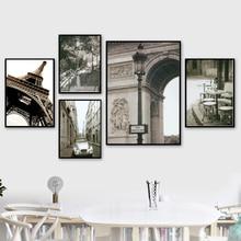 Paris Turm Straße Landschaft Wand Kunst Leinwand Malerei Nordic Poster Und Drucke Schwarz Weiß Wand Bilder Für Wohnzimmer Decor