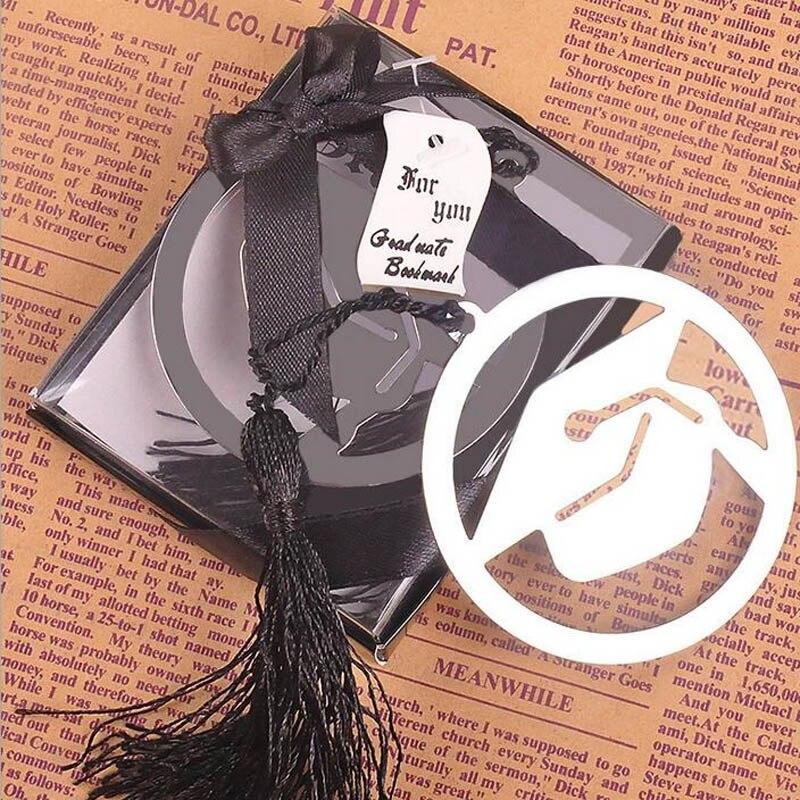 Marcapáginas de Metal graduado 500 Uds. Con elegante borla negra fiesta de graduación regalos recuerdos para invitados recuerdos ZA1232