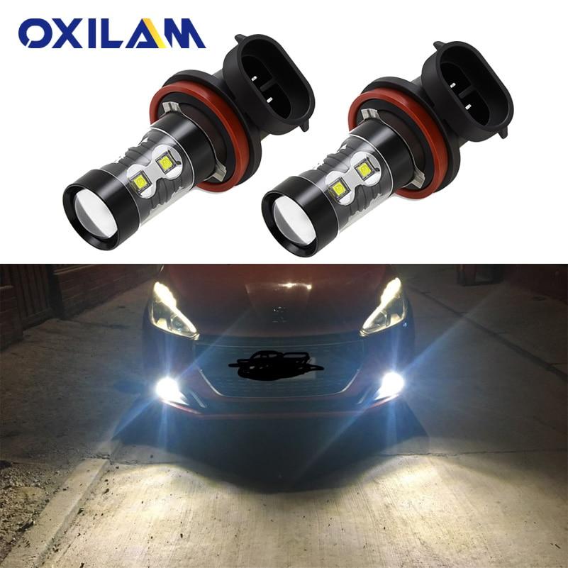 2 шт. H10 светодиодные лампы Автомобильные противотуманные фары для Peugeot 407 206 207 307 308 2008 3008 H8 H11 светодиодные лампы PSX24W H3 HB4 Автомобильные фары DRL