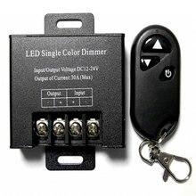 30A 12 v LED Enkele Kleur Dimmer High Power Dimmen Afstandsbediening Schakelaar Monochromatische Controller