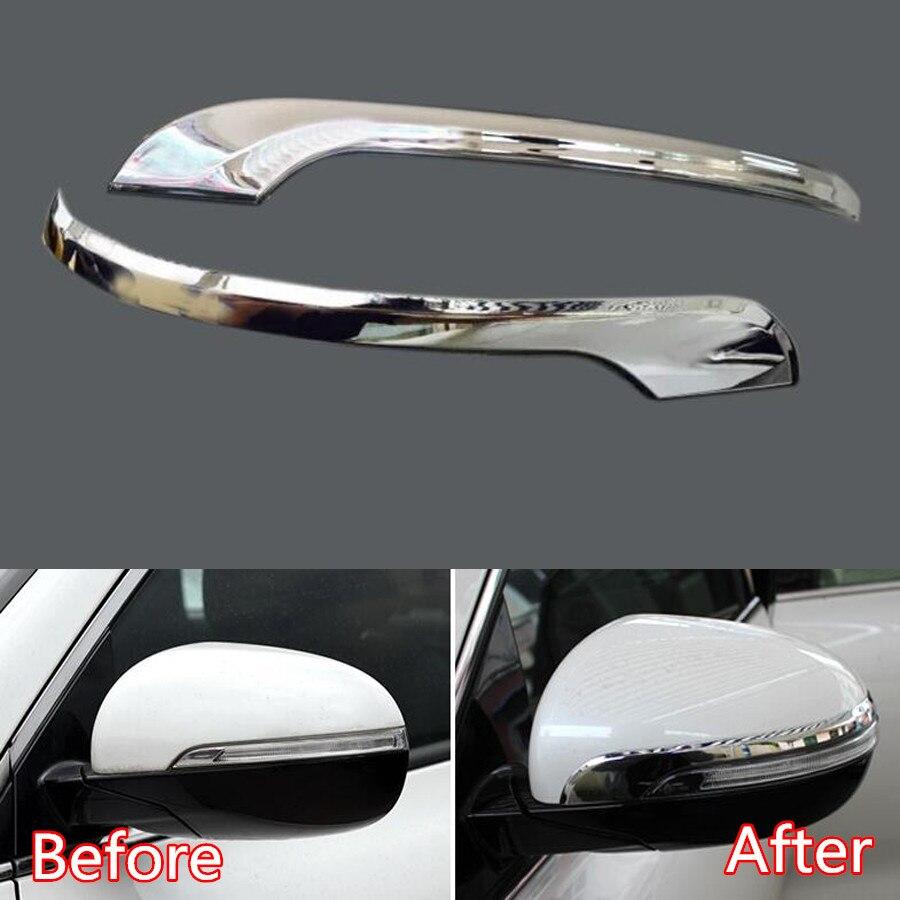 Para Kia Sorento 2015, 2016, 2017, 2018 espejo retrovisor del coche decoración Trim cubierta estilo guarnición pegatinas ABS 2 uds