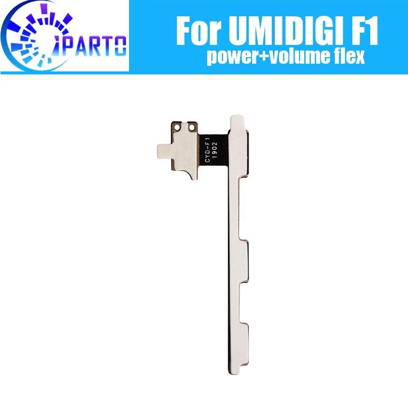 UMIDIGI F1 botón lateral flexible Cable 100% Original + botón de volumen Cable Flex piezas de reparación para UMIDIGI F1