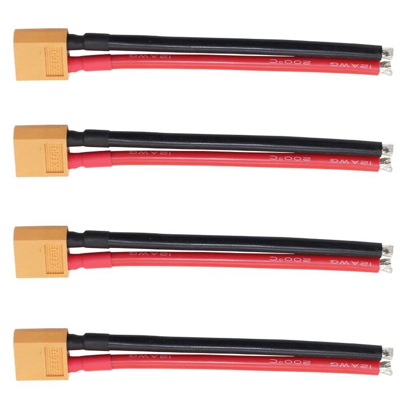 Conector macho XT60 de excelente rendimiento, Cable de silicona blando de 12awg...