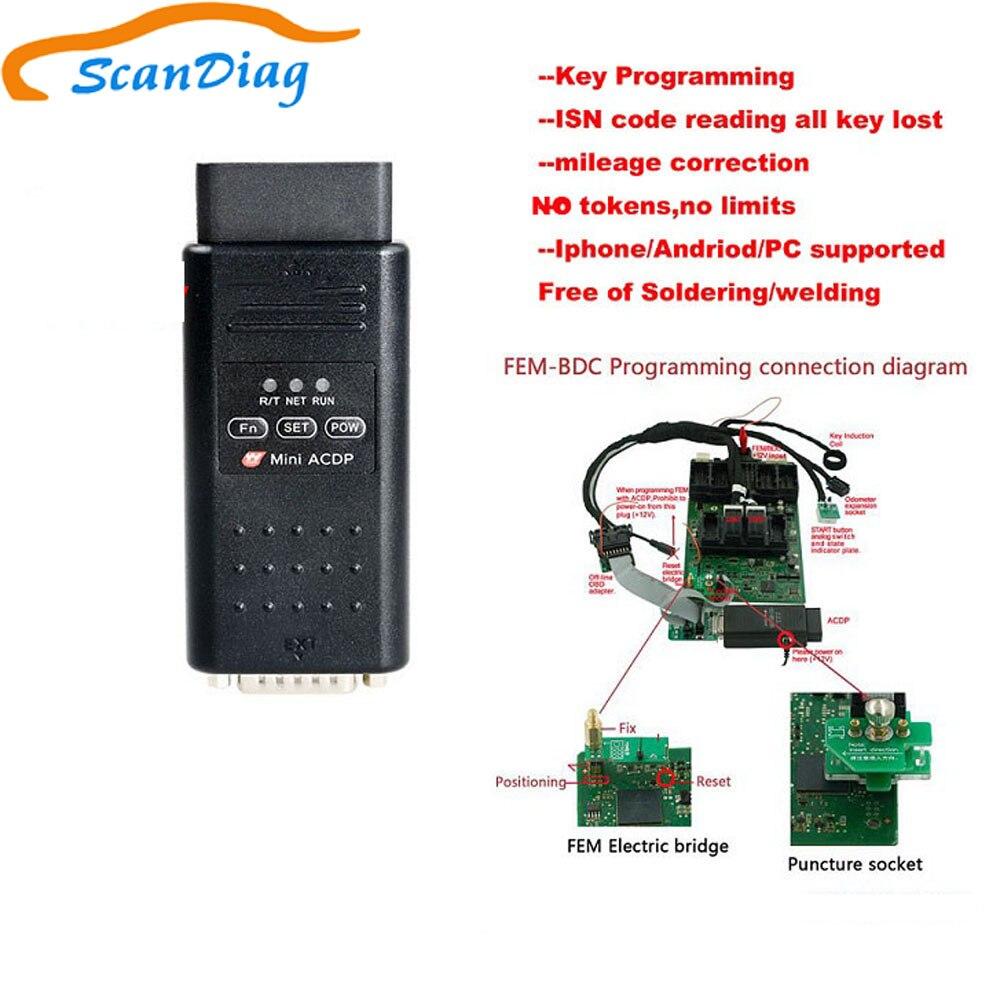 No tokens no limits Yanhua Mini ACDP Programming Master a set for bmw FEM/BDC Key/Mileage Programming/ISN Reading/All key lost