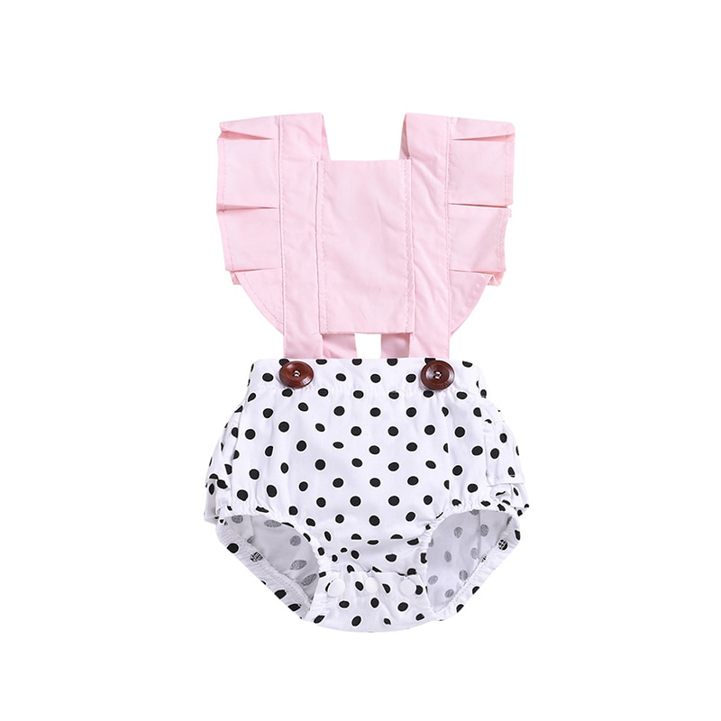 Newborn Baby Rompers Summer Baby Girls Clothing Sleeveless Polk Dot Rompers Cotton Jumpsuit Outfits
