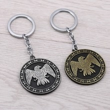 Offre spéciale jeu de trône porte-clés maison Baratheon maison Arryn de leyrie bouclier rond porte-clés chanson de glace et de feu porte-clés