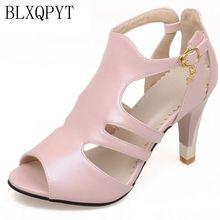 BLXQPYT-sandales pour femmes, grandes tailles 28 à 52, chaussures dété à talons hauts, douces, à la mode, pour mariage, collection 9898