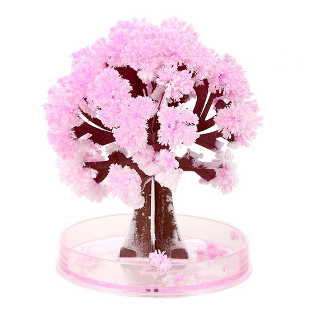 17.5*22.5cm magie visuelle artificielle Sakura arbres décoratif croissant papier pour bricolage arbre cadeau nouveauté bébé jouet fleur arbre exploration