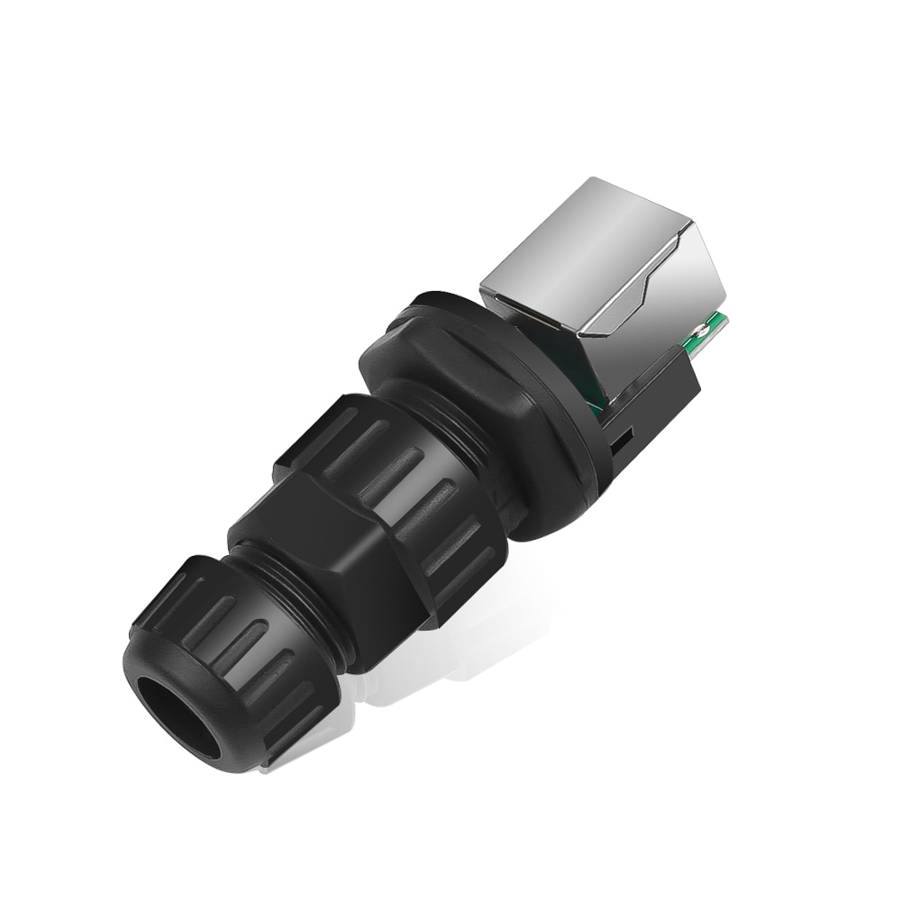 Nuevo 1 Pc RJ45 conector de interfaz IP68 red al aire libre AP impermeable adaptador de conector Durable 10mm agujero 8 Core M19 adaptador