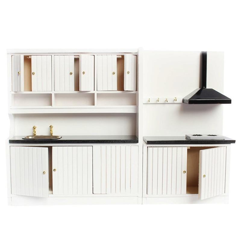 1:12 Кукольный домик миниатюрная мебель деревянный кухонный набор