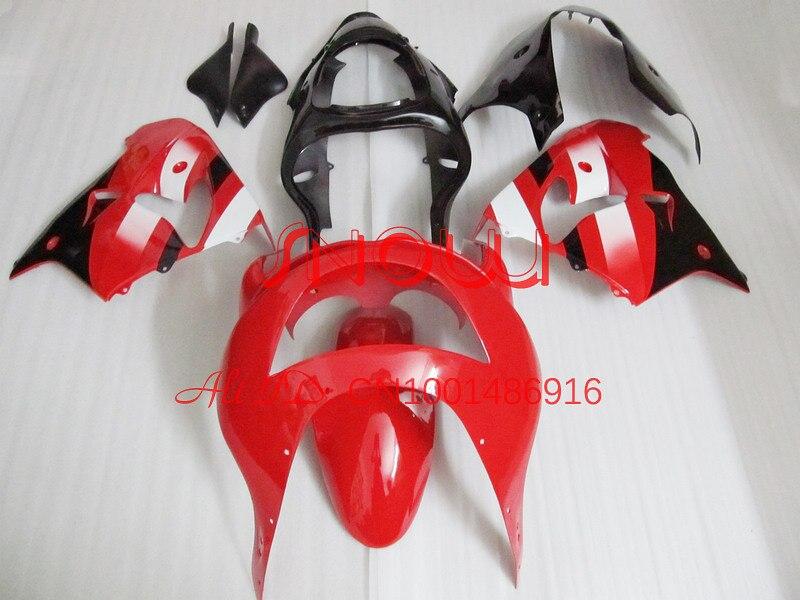 Rojo + Blanco + Negro para Kawasaki NINJA ZX-9R 98-99 ZX9R 1998-1999 ZX 9R 98 99 1998 1999 ABS Motocicleta Kit Del Carenado Completo