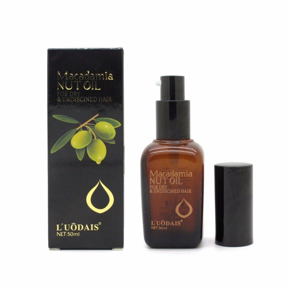 Acondicionador de cabello suave de 50 ML, aceite puro de Argán marroquí, aceite de nuez de Macadamia, tratamiento para el cuidado del cuero cabelludo para que tu cabello brille caliente