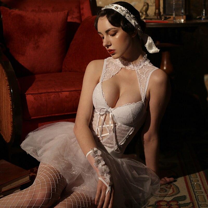 Sexy Erotic Lingerie bride Babydoll Bride Wedding Dress For Women Erotic Underwear Sleepwear Role Play Sexy Costumes lenceria