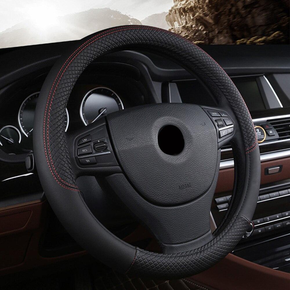 Funda para volante de coche de piel sintética cosida a mano de 38cm para Lexus gs gx nx ct es rx LS lx is 200 300 350 460 470 570 480