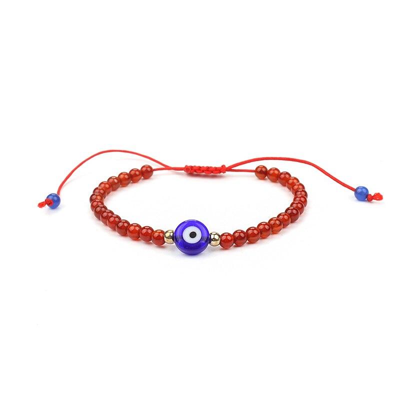 1pc Red Bracelet Natural Stone Bead Blue Evil Eye Bracelets Red String Rope Bangle Bracelet Jewelry Mother's Day Gift