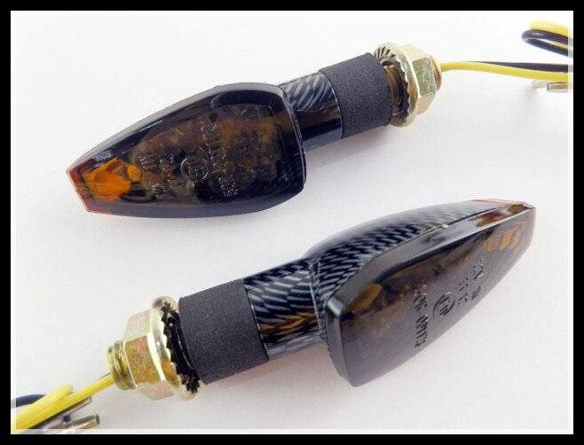 TURN SIGNAL LED Carbon w/ Smoke Lens  for Honda Dual Sport Motorcycle Dirt Bike