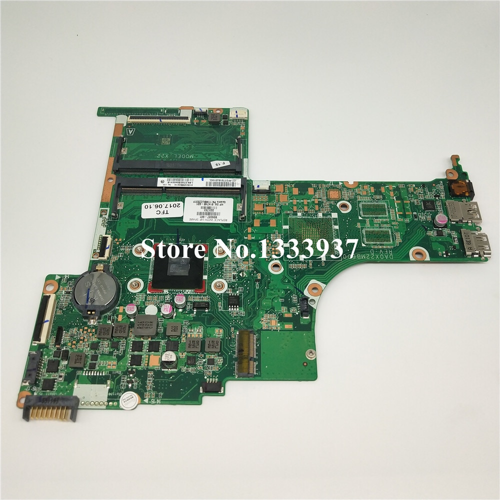 Para hp PAVILION 15-AB 15Z-AB X22 placa base de computadora portátil A8-7410U DA0X22MB6D0 placa base 809337-501, 814748-501 de 809337 -001 814748-001