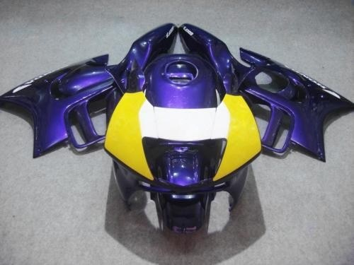 Motorcycle Fairing kit for HONDA CBR600F3 95 96 CBR600 F3 CBR 600F3 1995 1996 Blue yellow Fairings set+gifts-Hey