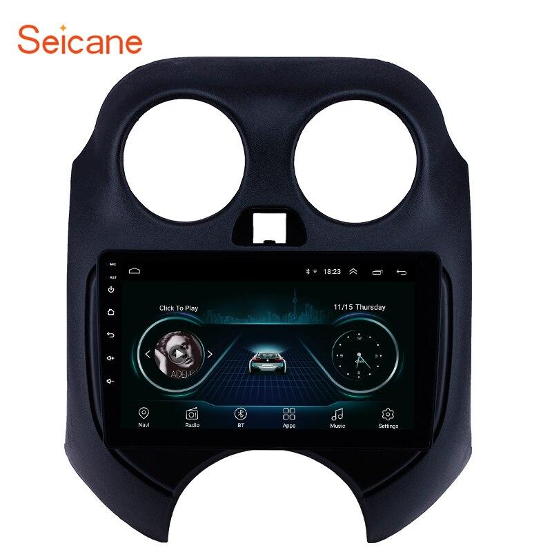 """Seicane 안드로이드 8.1 9 """"자동차 스테레오 라디오 GPS 네비게이션 멀티미디어 플레이어 닛산 3 월 2010 2Din 지원 DVR 후면 카메라"""