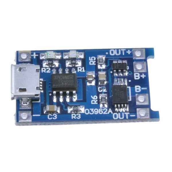 2 шт. синий 5 в Micro USB 1A 18650 литиевая батарея зарядная плата конвертер Модуль защита от перегрузки зарядная плата