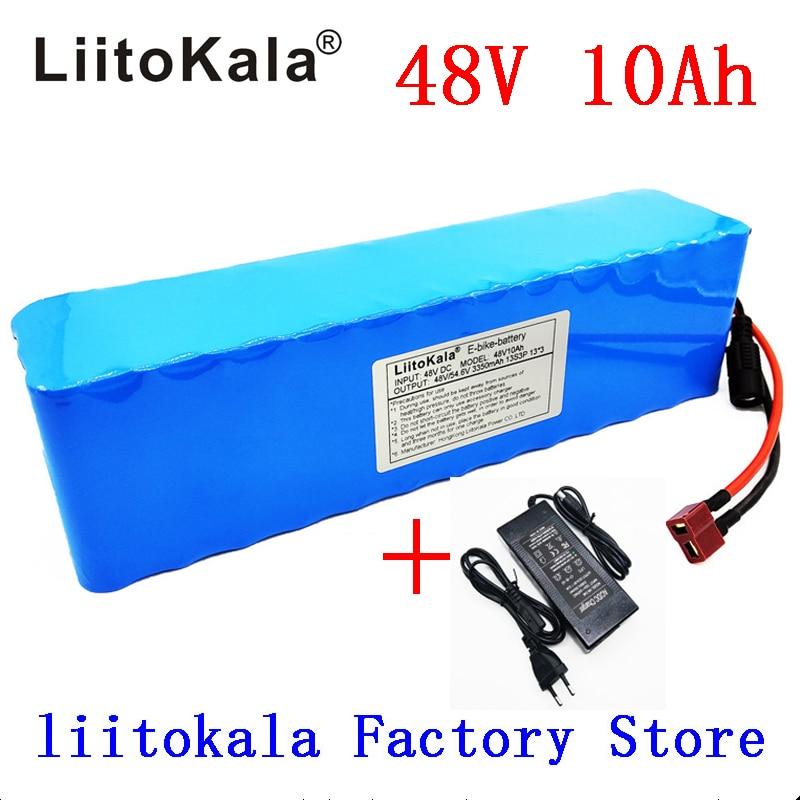 LiitoKala-بطارية ليثيوم أيون للدراجة الكهربائية ، 48 فولت ، 10 أمبير ، لمحرك بافانغ 1000 واط وشاحن