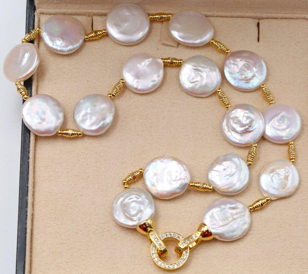 Baroqueonly Collar De Perlas Blancas De Estilo Barroco Natural Cadena De Suéter Pulsera Gargantilla Hebilla De Iluminación Ne Collares Aliexpress