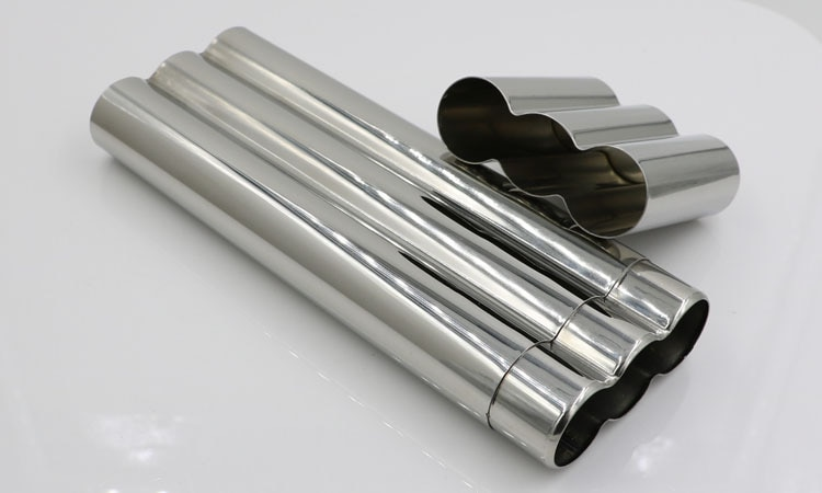 10pcs/lot stainless steel 3 cigar tube mirror polished three cigar tubes holder Cigar Humidor Tube smoking accessory Jar Humidor enlarge