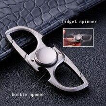 Fidget spinner porte-clés porte-clés ouvre-bouteille handspinner doigt spinner porte-clés porte-clés llaveros hombre livraison gratuite