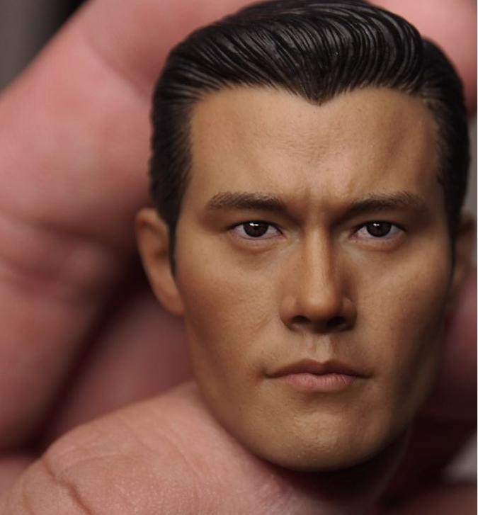 1 6 figure body metal y display stand for 12 inch action figure head play ttl hot toys soldier and doll Custom 1/6 Scale Lee Byung-hun T1000 Head Sculpt For Hot Toys Figure Body for 12 Action Figure doll Toys soldier model