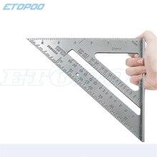 """1 pièces 7 """"/180mm 45 degrés en alliage daluminium Angle carré Triangle règle outil de mesure outils de travail du bois"""