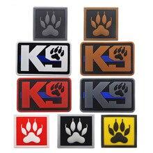Patch 3D PVC K9 pour chien et moral militaire   Badges demblème tactique à crochet, patchs arrière en caoutchouc pour vêtements, sacs à dos