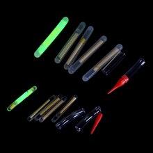 Lots utiles pêche 50 pièces 4.5*37/3.0X25MM pêche flotteur Fluorescent Lightstick lumière nuit flotteur tige lumières sombre lueur bâton