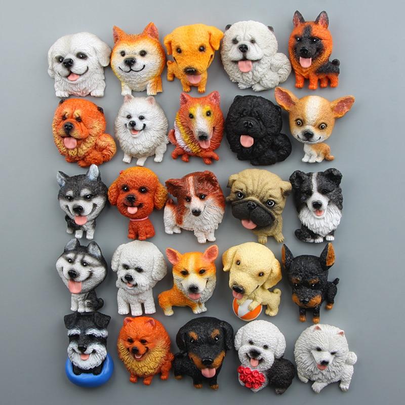 Японские Bulldog Siberian Husky Corgi мопса игрушки в виде чихуахуа, смолы, Kawai Zakka, игрушки для щенков, модель, магнит на холодильник, домашний декор