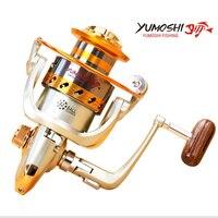 YUMOSHI Metal Spinning Fishing Reels EF1000-7000 12BB Fly Wheel Fishing Reel Tool Accessorie