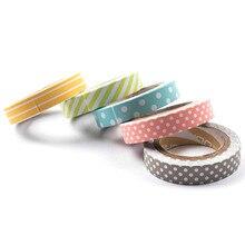 5 stks/set Kleur Papier Tapes Handgemaakte DIY Decoratieve Washi Tape Gekleurde Regenboog Masking Tape Briefpapier Kids Gift Schoolbenodigdheden