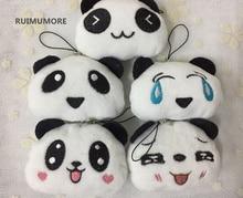 Güzel 5 Yüzler-Yeni Küçük Panda 5 cm peluş doldurulmuş oyuncaklar, hediye anahtarlık kolye dekorasyon panda peluş oyuncaklar