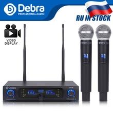 Qualidade de som perfeita! debra D-102 uhf sem fio dupla handheld microfone sistema de microfones para executar mostrar igreja discurso karaoke festa
