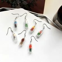 Fashion Capsule Earring Mini Space Capsule Earring Creative Dangle Earring Funny Earring Gift For Women Girls #292643