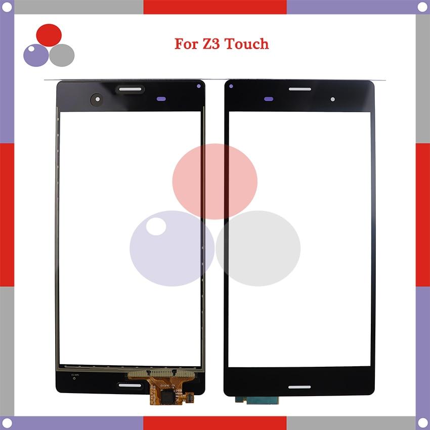 Alta calidad para Sony Xperia Z3 D6603 D6653 Sensor de pantalla táctil digitalizador lente de vidrio exterior
