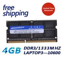 KEMBONA-pc portable DDR3, 4 go, SODIMM, 4G 1333MHZ, CL9 KBN1333D3S9/4G, livraison gratuite