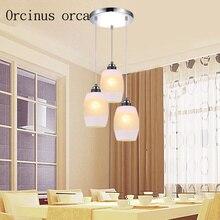 Restaurant chandelier modern simple meal hanging lamp creative LED bar three head